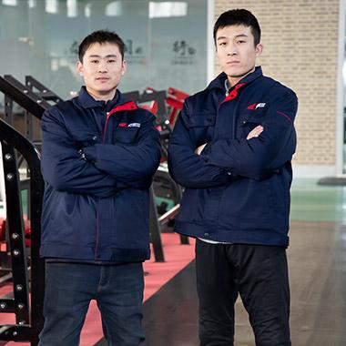 Mark Liu and John Li Production manager