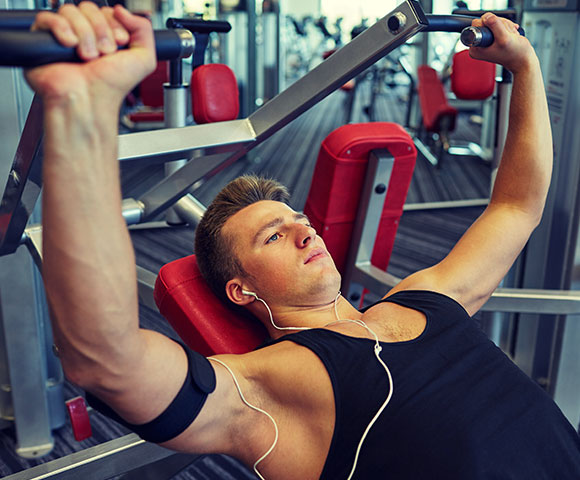 Elements of Powerful Gym Pin Loaded Shoulder Press