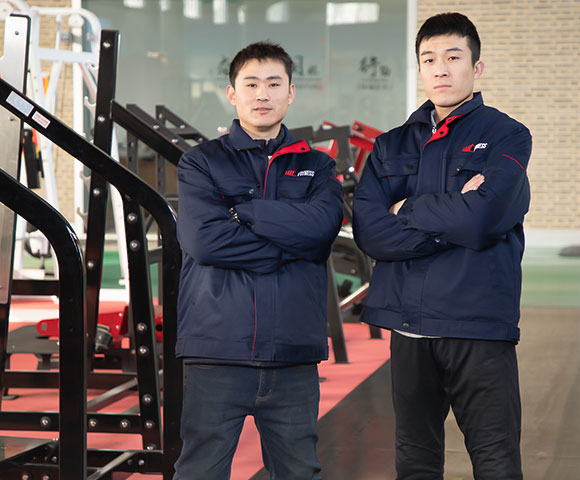 Empowering Commercial Gym Two Workers in Factory