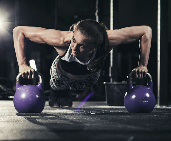 Explosive Weightlifting Kettlebell Training