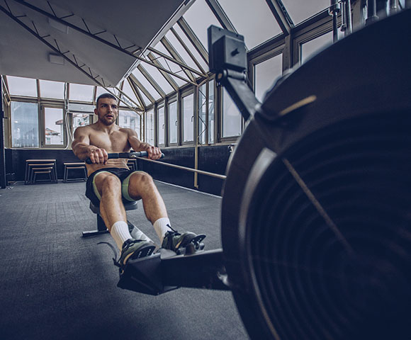Rowing out of Water Rower Training